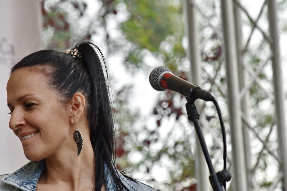 užitak, glazba, Izvođač, pjevanje, festival, portret, koncert, pjevač, žena, ljudi
