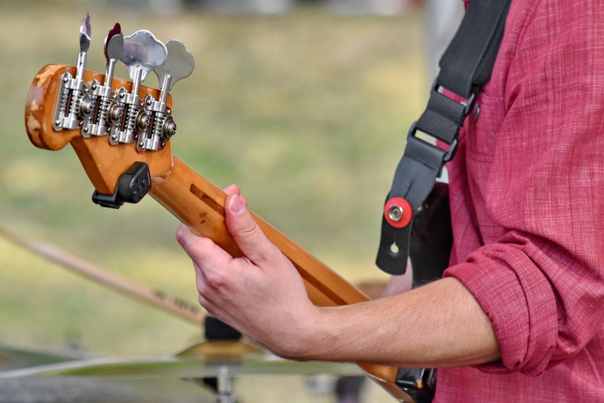 drum, drumstick, guitarist, hand, music, man, equipment, recreation, instrument, leisure