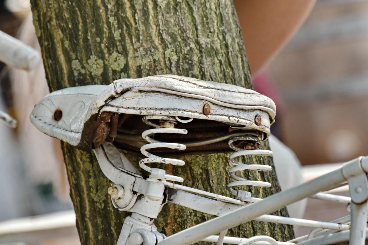 bicikala, dekoracija, nostalgija, staro, bijeli, drvo, retro, starinsko, hrđe, na otvorenom