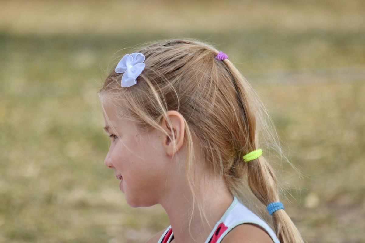 adorable, blonde hair, innocence, school child, smiling, summer season, outdoors, child, blond, grass