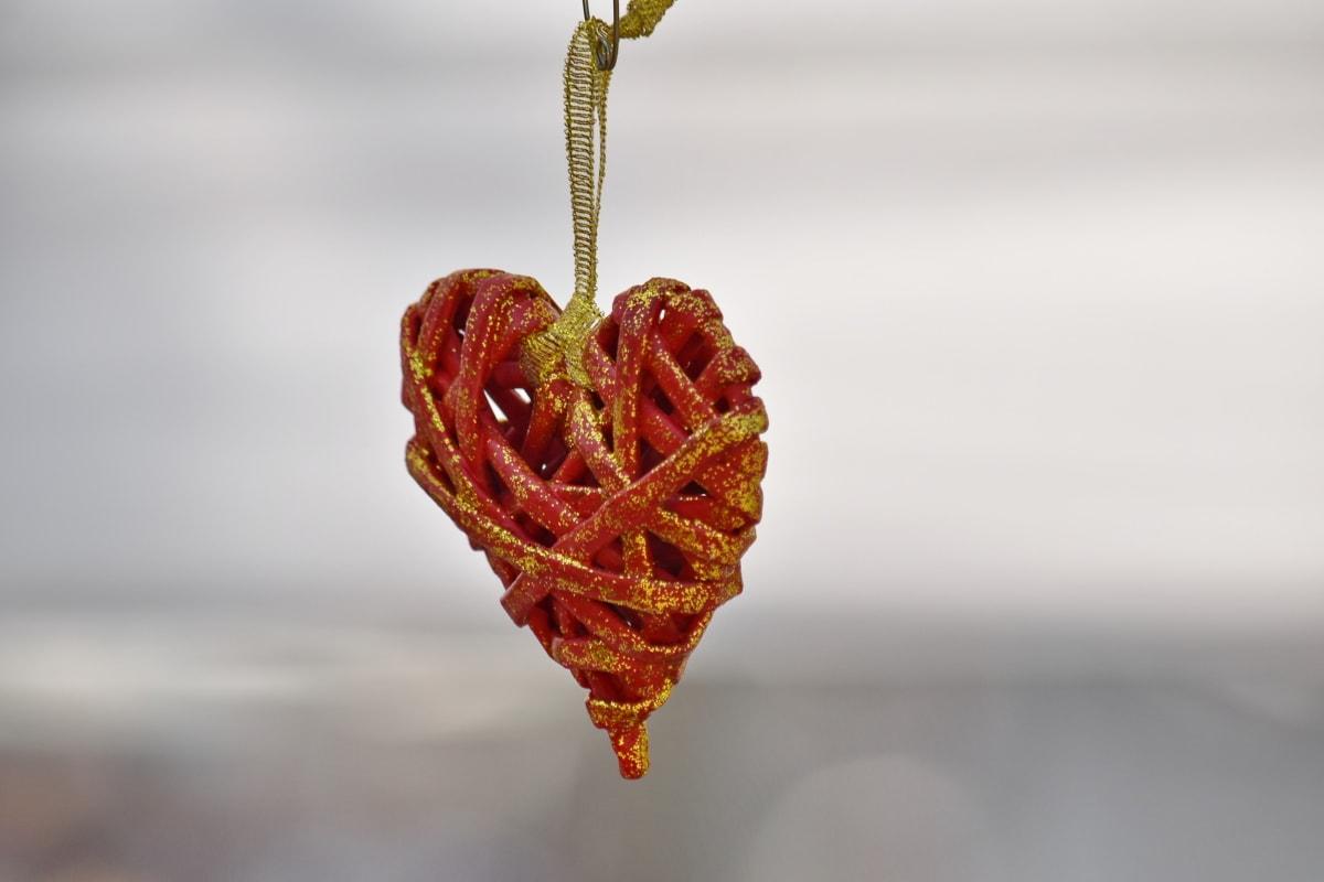 heart, love, knot, still life, blur, beautiful, decoration, hook, decorative, detail