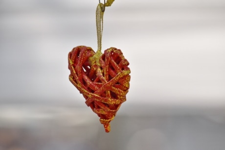 heart, love, knot, still life, blur, beautiful, decoration, hook, decorative, detail
