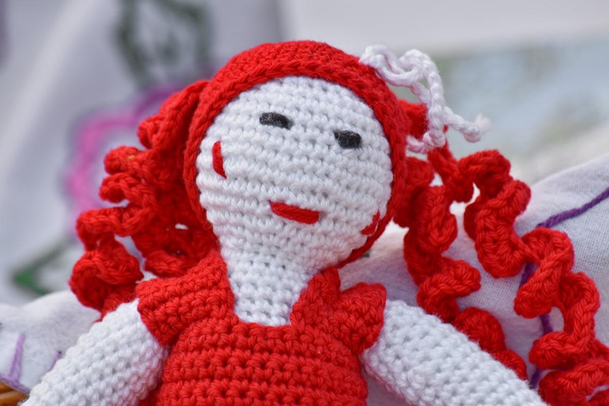 docka, hemlagad, leksak, tradition, bomull, Söt, dekoration, tyg, mode, gåva