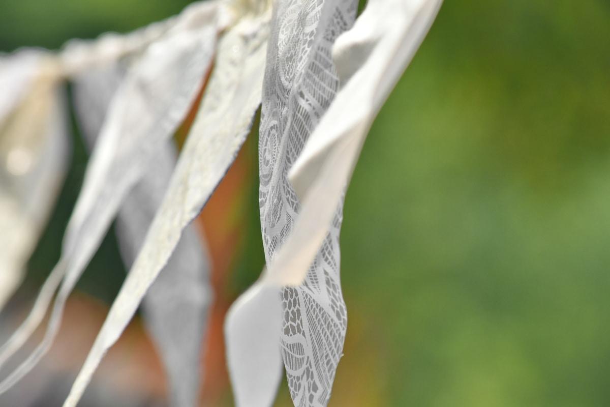 decoratie, opknoping, zelfgemaakte, touw, wind, wit, vervagen, elegante, daglicht, decoratieve