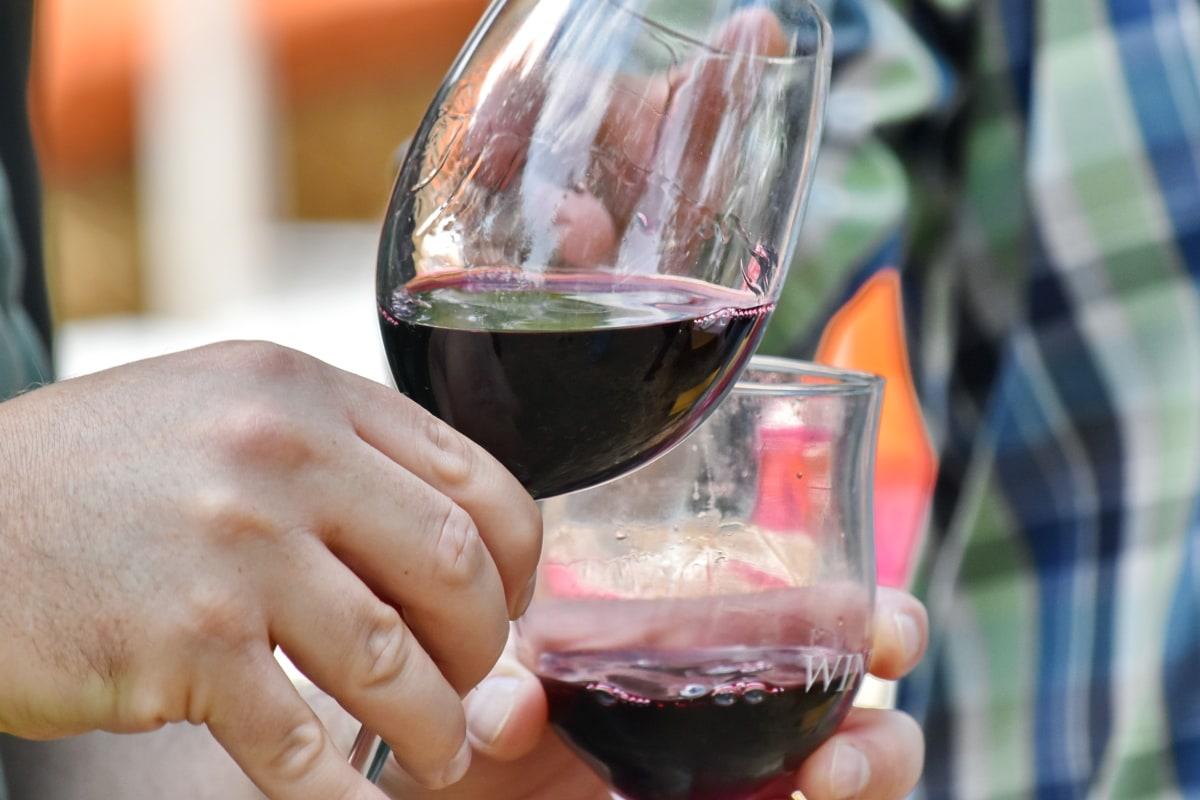 proslava, tekućina, stranka, crno vino, staklo, alkohol, piće, napitak, žena, ljeto