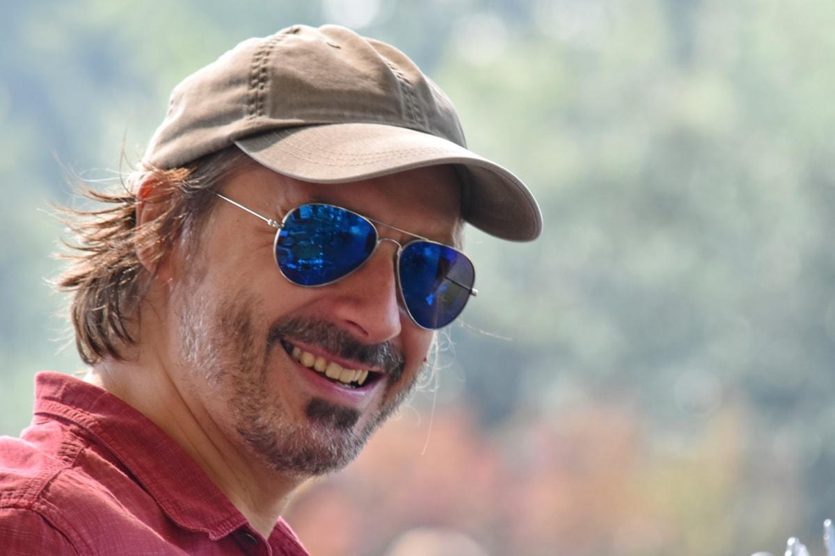 Sakal, güzel fotoğraf, yakışıklı, adam, Foto model, zevk, portre, poz, gülümseme, güneş gözlüğü