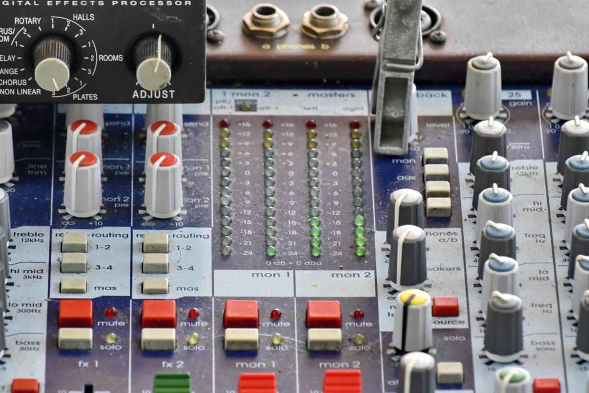 wzmacniacz, muzyczne, dźwięk, Technologia, objętość, Elektronika, Przełącznik, Sprzęt, Mikser, intensywność