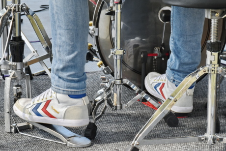 drum, event, fashion, footwear, musician, sneakers, man, steel, iron, device
