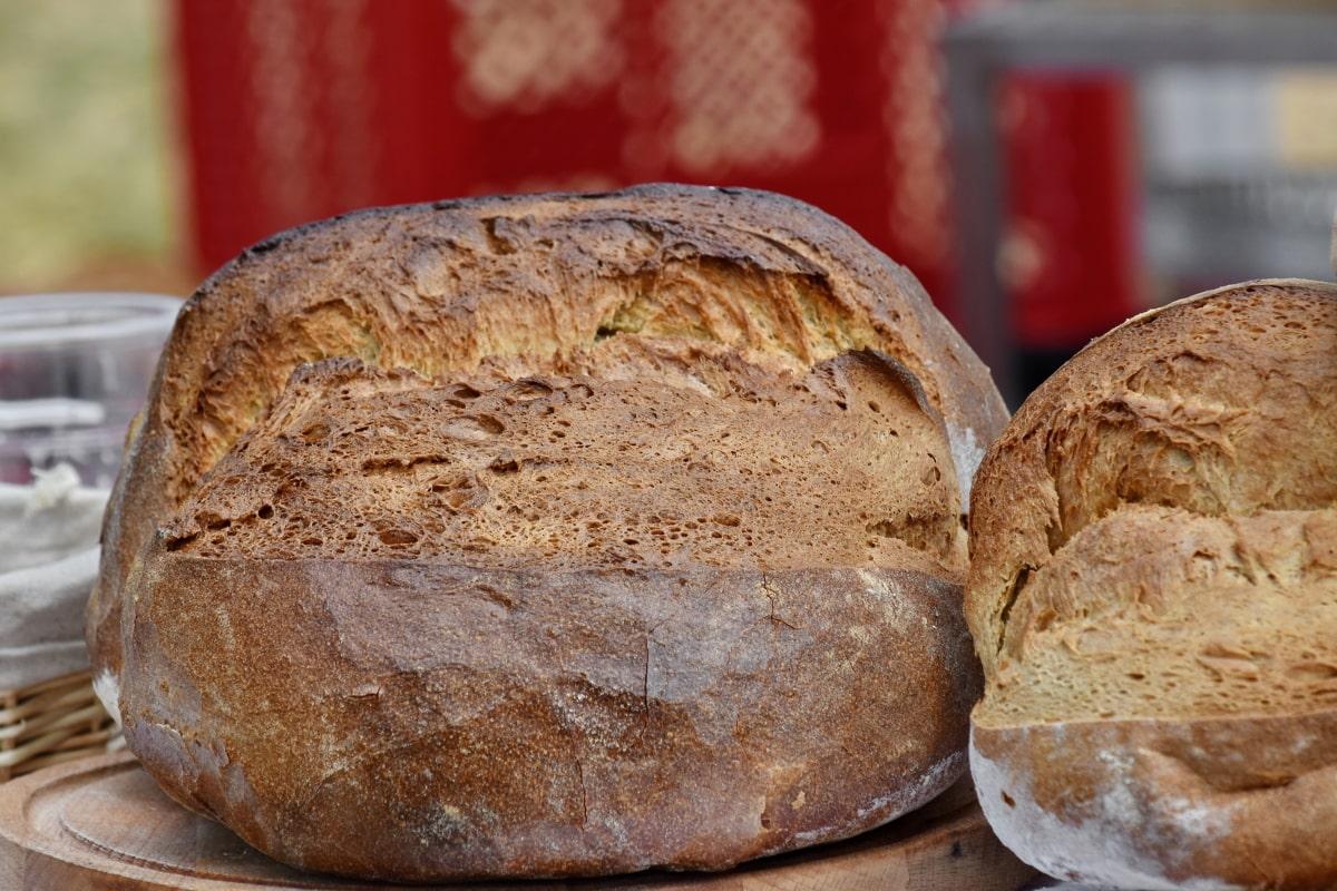 baked goods, barley, bread, homemade, flour, crust, food, breakfast, wheat, rye