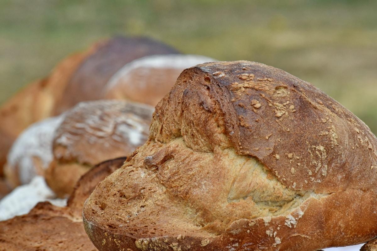 caseiro, trigo, pão, comida, centeio, farinha, pequeno-almoço, de cozimento, cereais, massa de pão