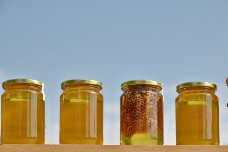 dietary supplement, honey, merchandise, organic, jar, glass, traditional, homemade, full, summer