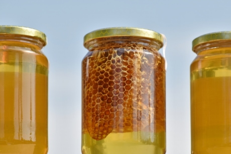 dessert, honey, jar, full, traditional, homemade, delicious, nutrition, summer, nature