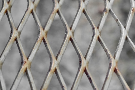 fence, iron, steel, barrier, pattern, metallic, abstract, protection, wire, old