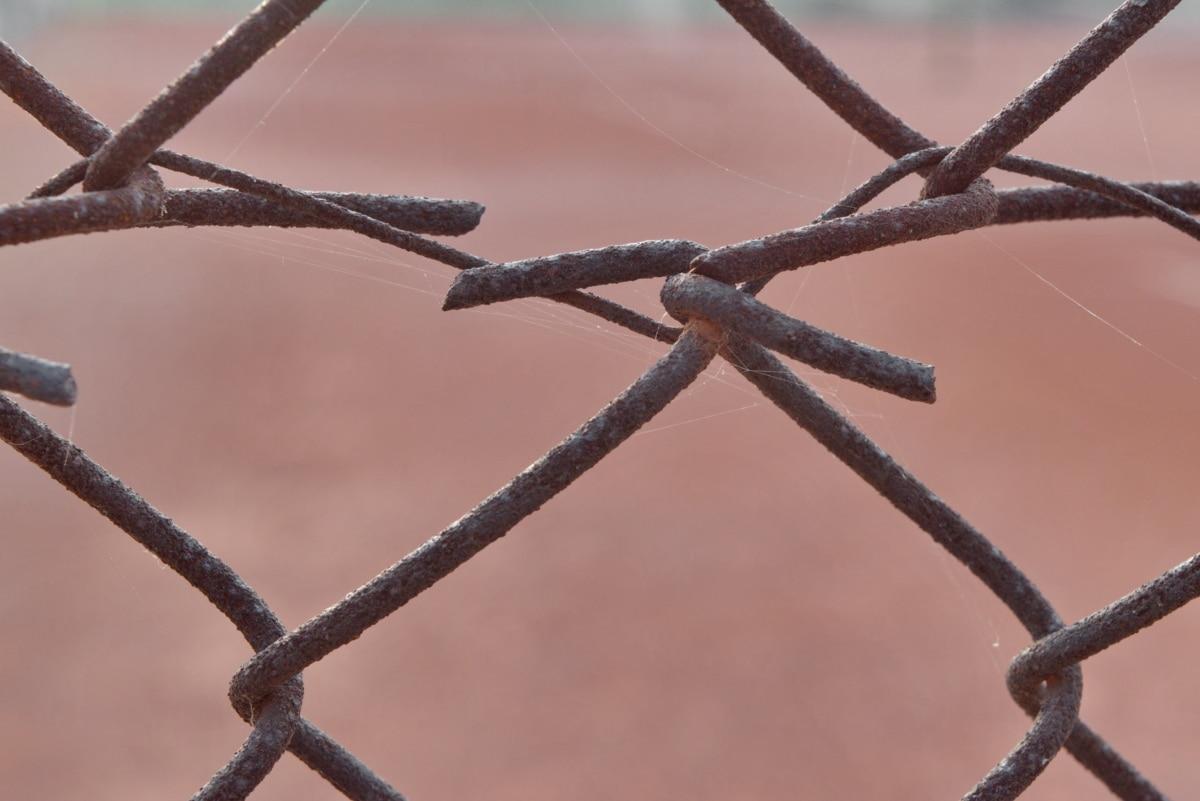 колючий дріт, близьким, паркан, залізо, іржі, дроти, бар'єр, відділення, Чавун, ланцюг