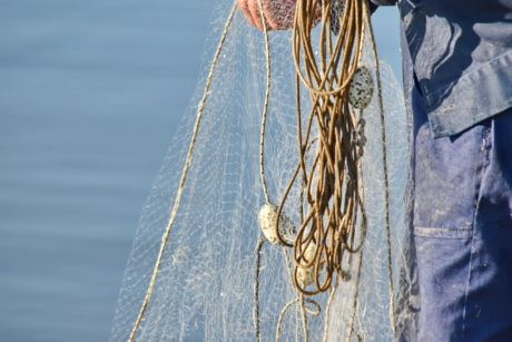 fisherman, knot, rope, water, nature, jeans, clothing, denim, material, texture