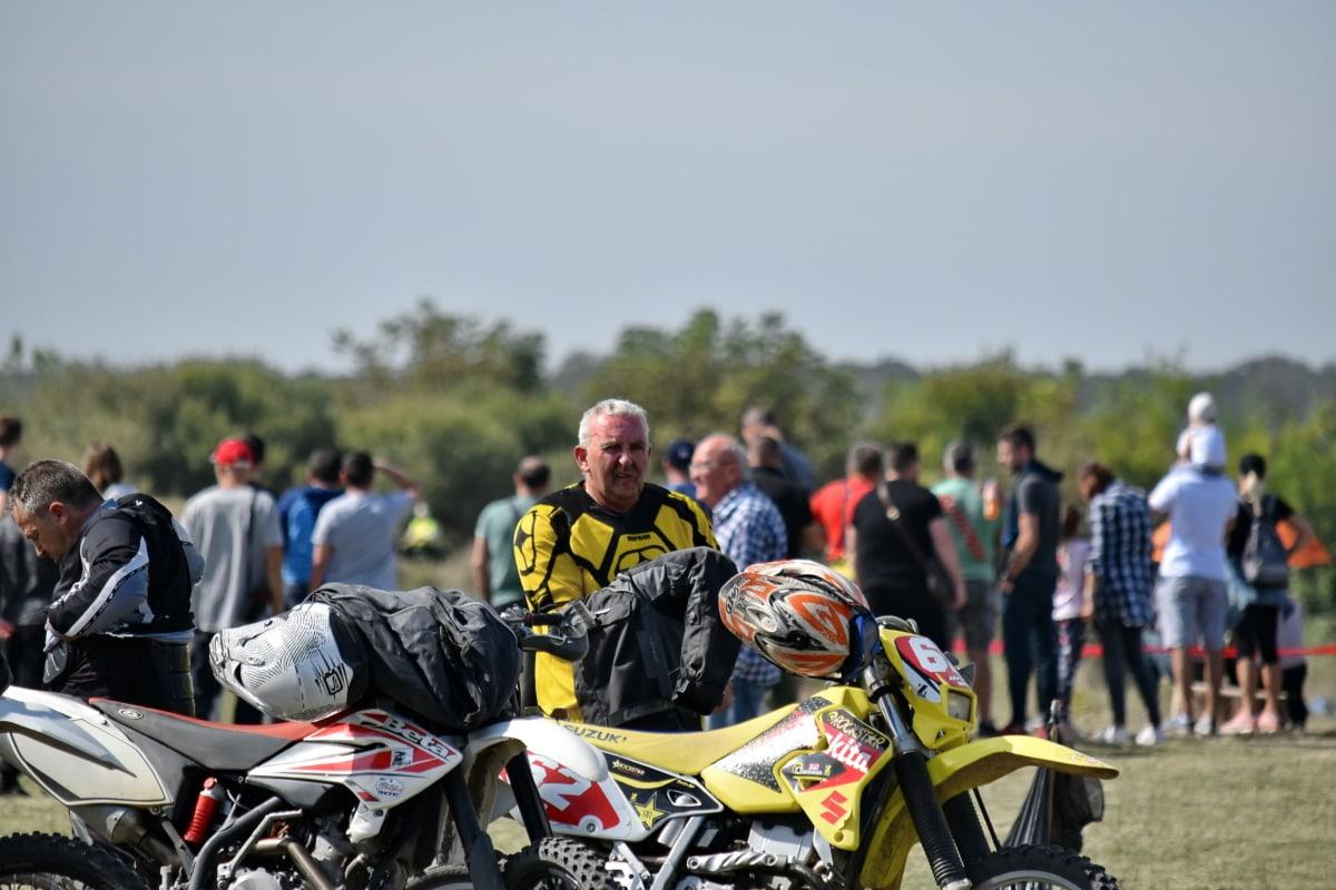 událost, lidé, Sportovní, závod, vozidlo, přilba, kolo, cyklista, konkurence, motorka