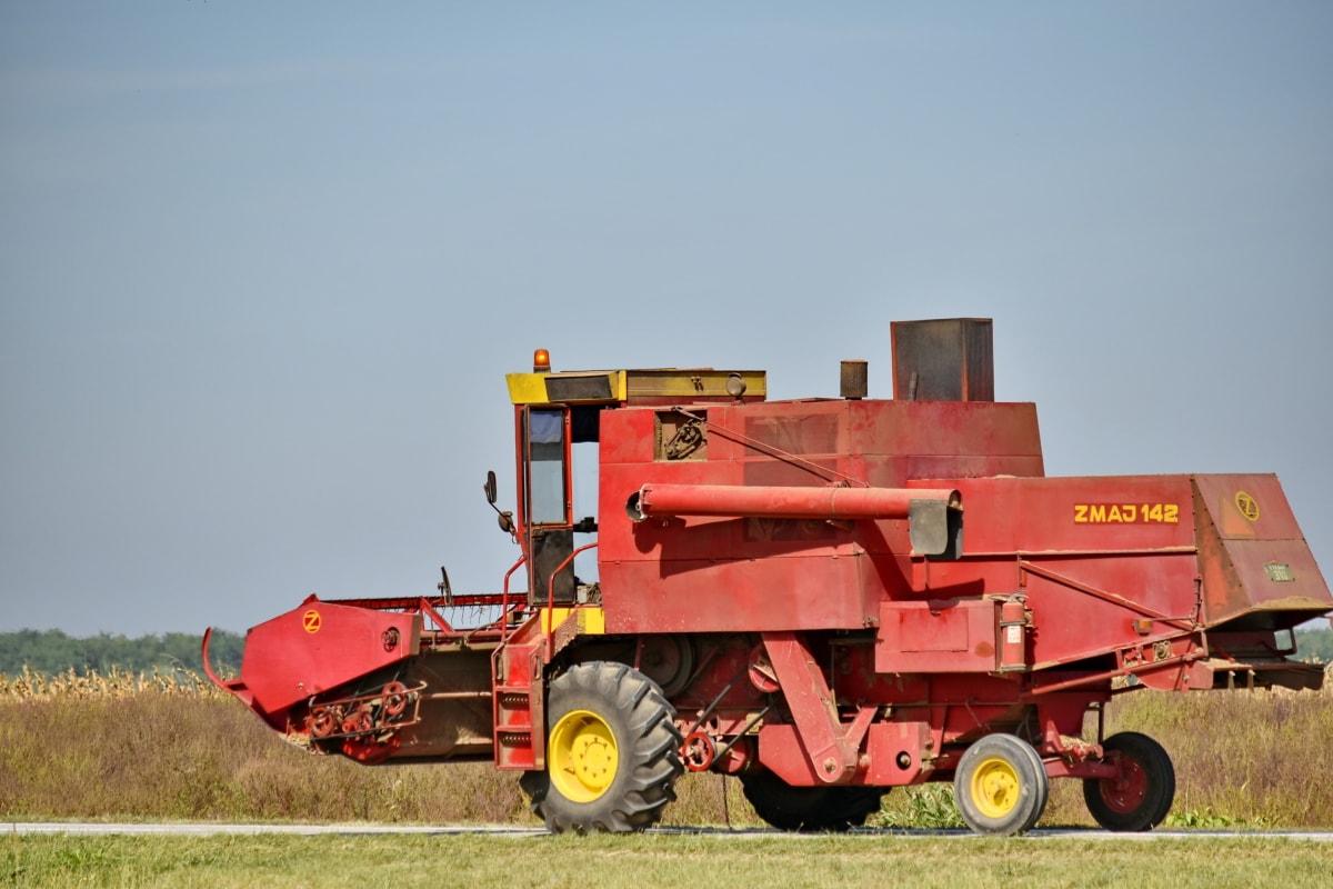 combina, vehicul, agricultura, echipamente, masina, dispozitiv, Utilaje, secerătoare, rurale, industria