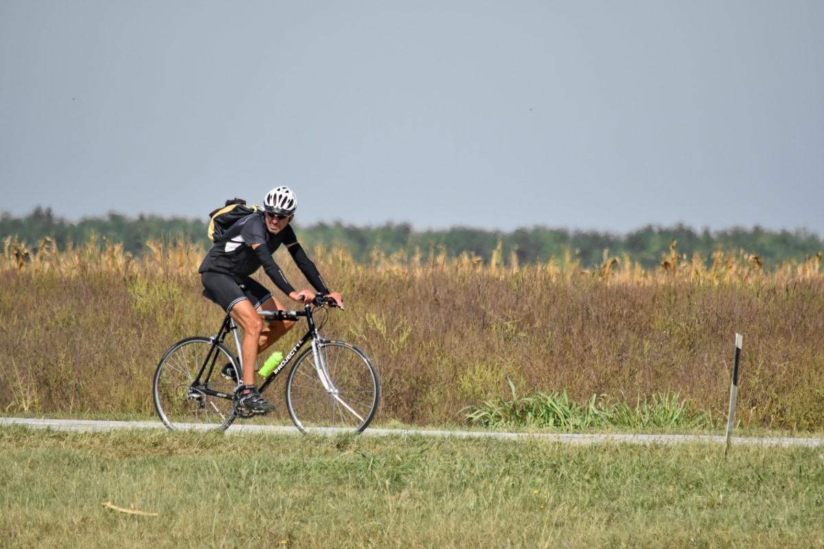 Sport, ciclist, ciclu, biciclete, biciclete, casca, biciclete de munte, ciclism, roata, natura