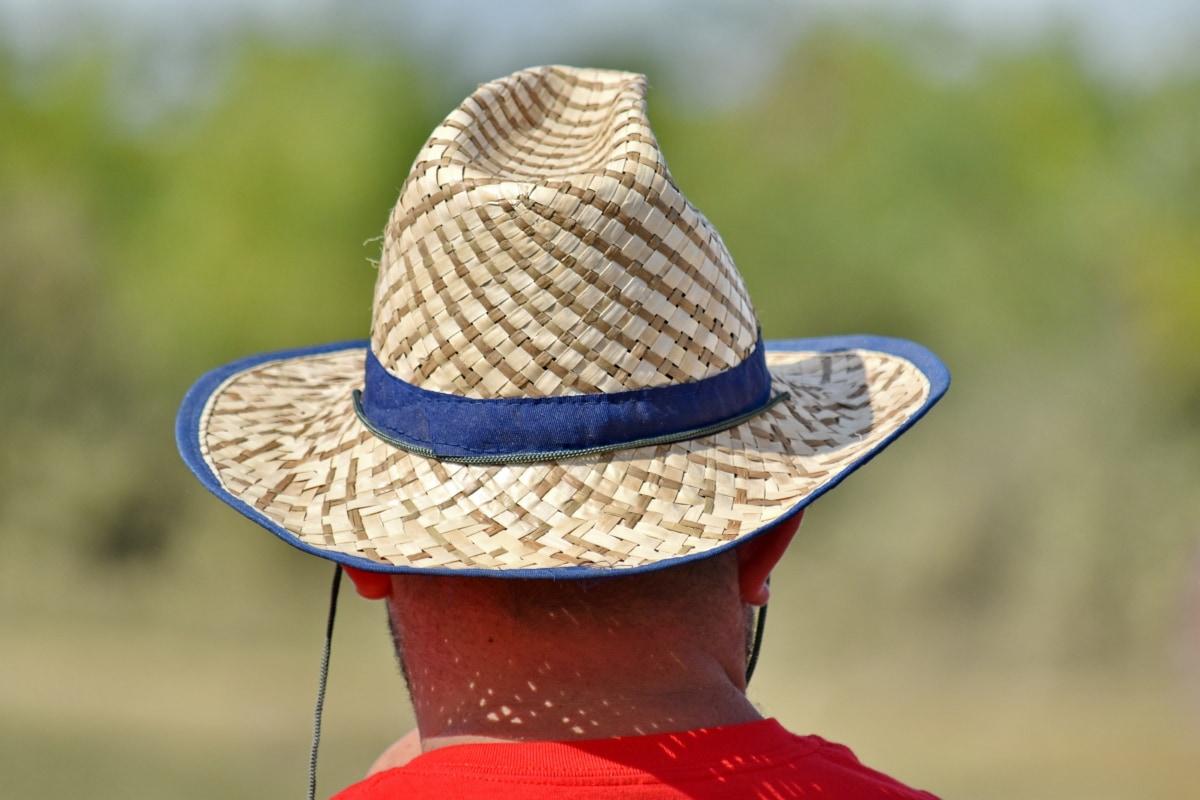 lue, varme, halm, sommersesongen, klær, dekker, utendørs, Sommer, natur, folk