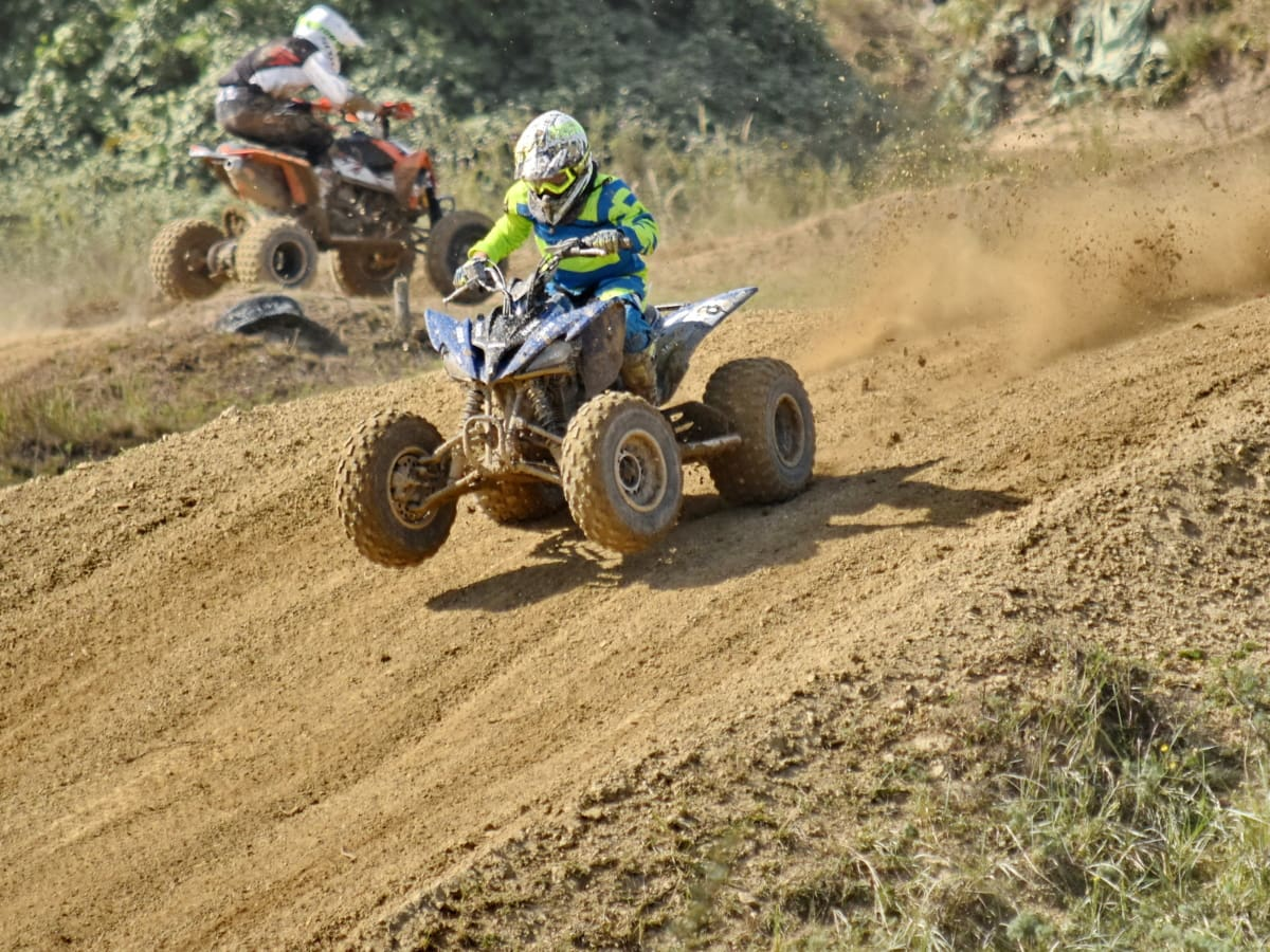 ascent, hilltop, motocross, mud, race, race way, slope, sport, vehicle, soil