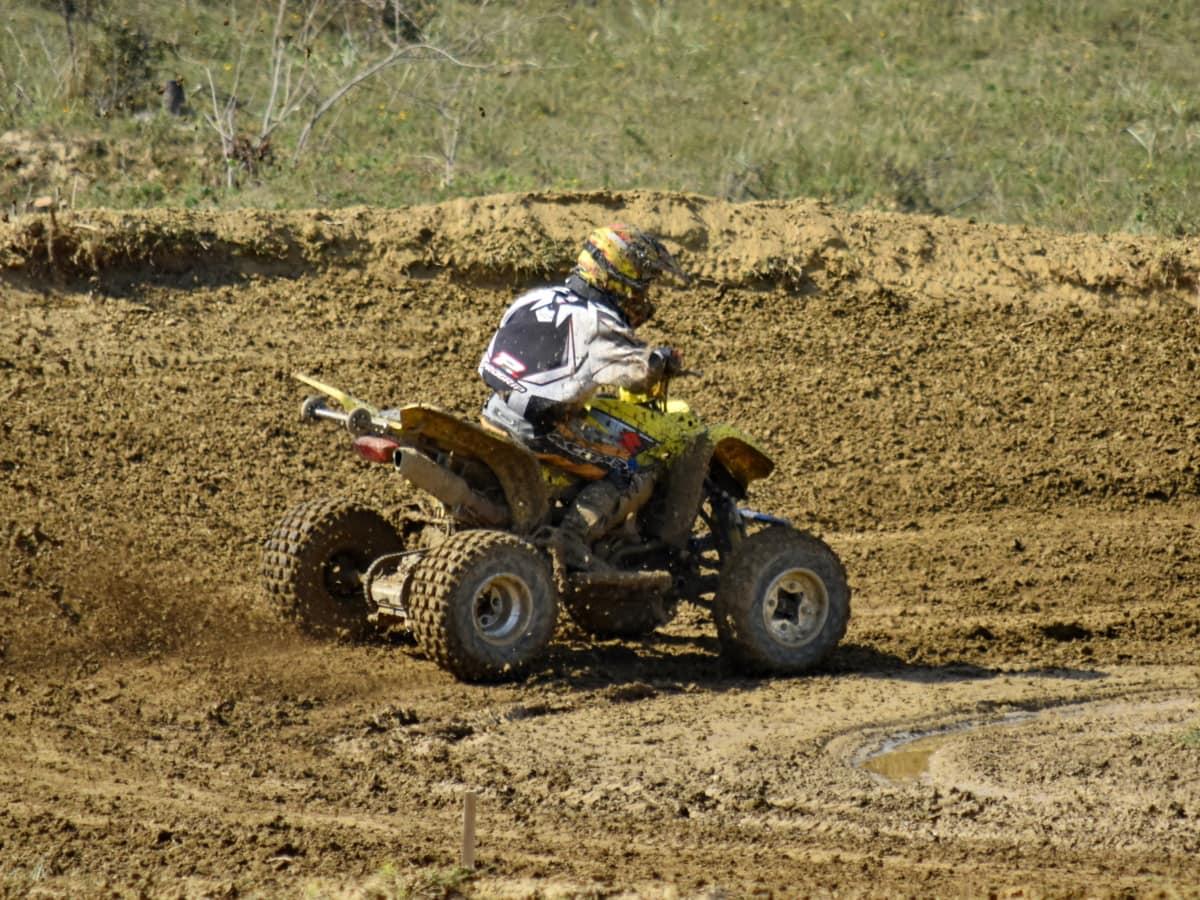 çamur, yarış, toprak, toz, araç, motokros, yarış, eylem, Racer, rekabet