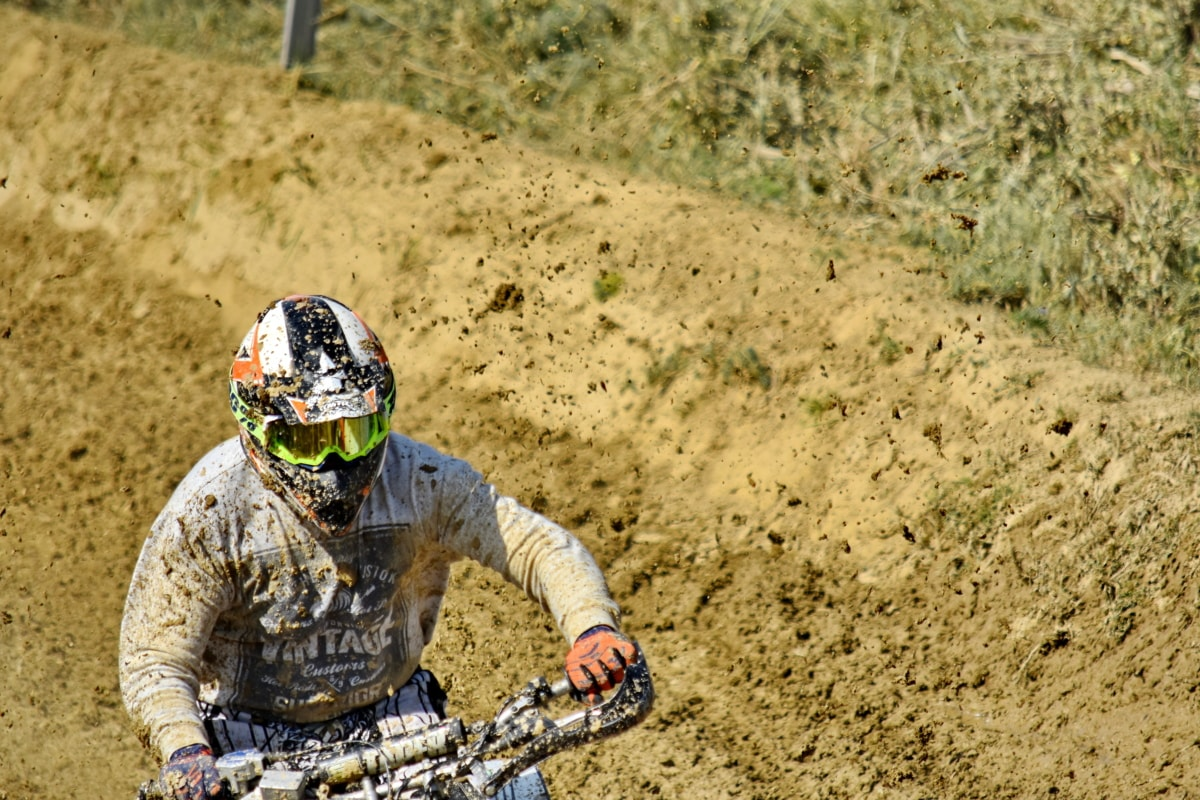 belle photo, saleté, Motocross, moto, Motocycliste, boue, sol, aventure, action, Loisirs