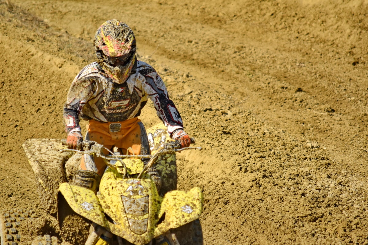 championship, dust, fast, motorcycle, motorcyclist, movement, mud, portrait, race, racer