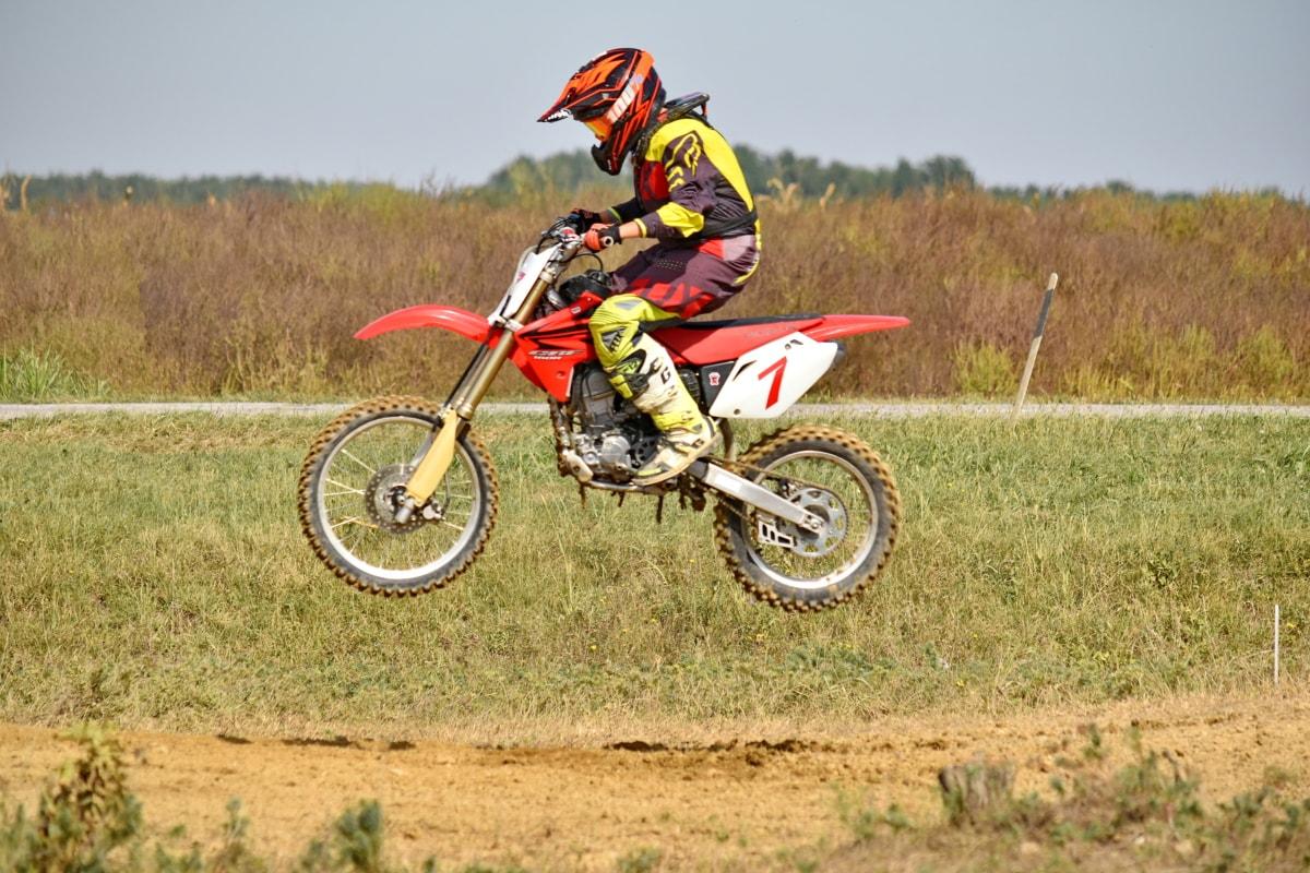 danger, extreme, jump, motocross, motorbike, race, sport, helmet, fast, rider