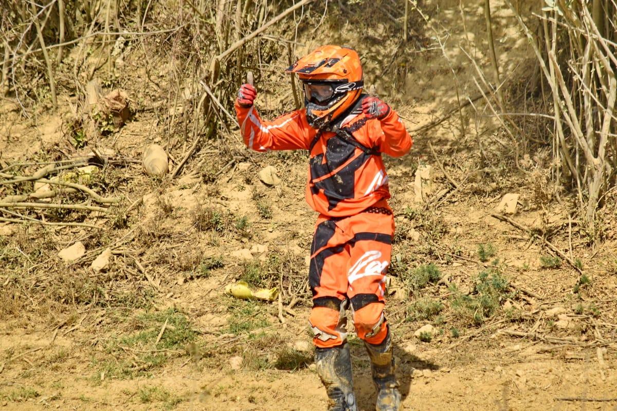 emoção, exposição, motocross, motociclista, lama, retrato, homem, capacete, solo, aventura