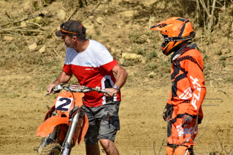 motorcross, team, teamwork, trainer, trainingsprogramma, mensen, voertuig, man, fiets, race