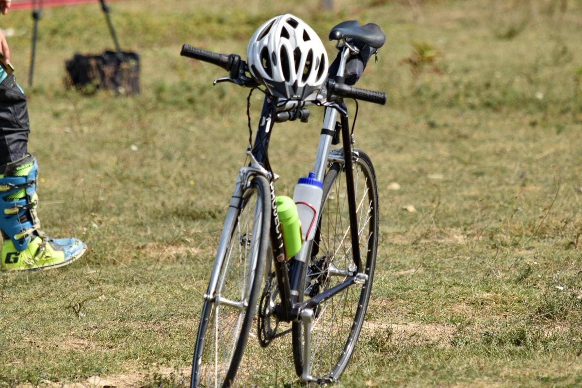 terrengsykkel, hjul, syklus, sykkel, sykling, sport, sykkel, rekreasjon, sete, gresset