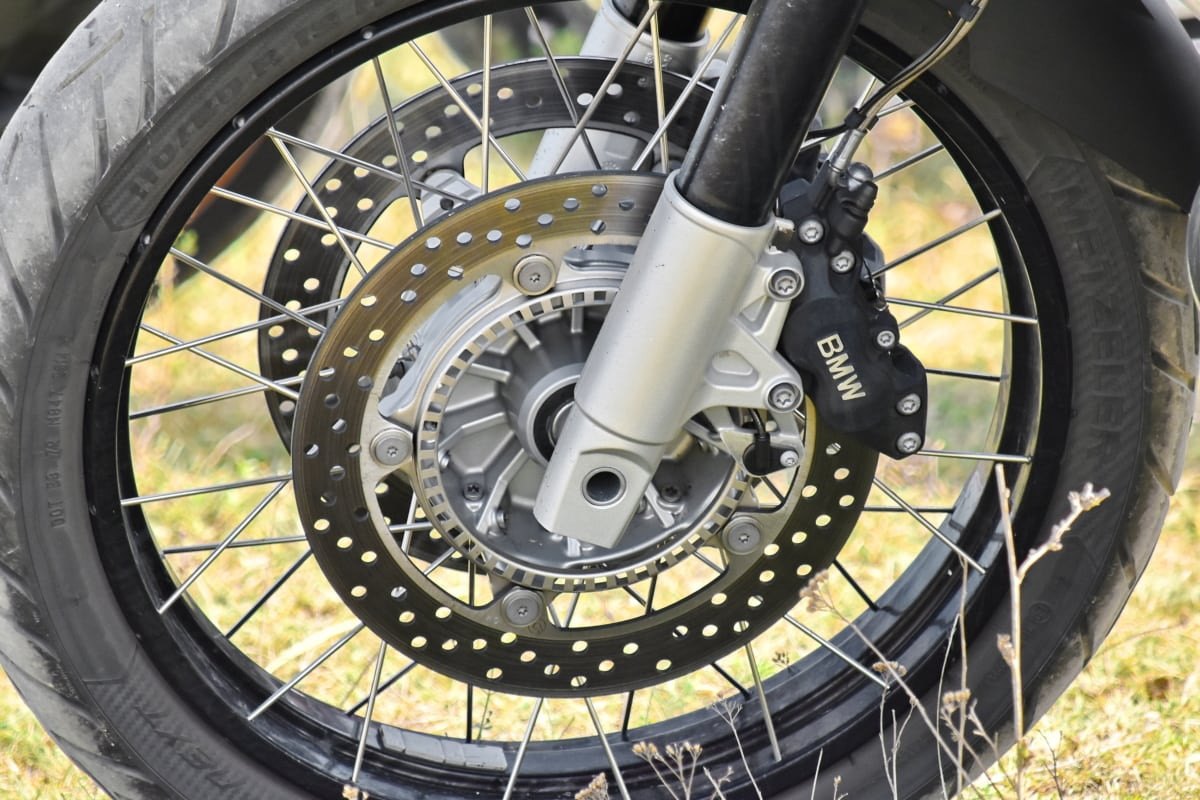 njemački, moderne, motocikl, tehnologija, guma, kotač, zupčanik, obruč, čelik, strojevi