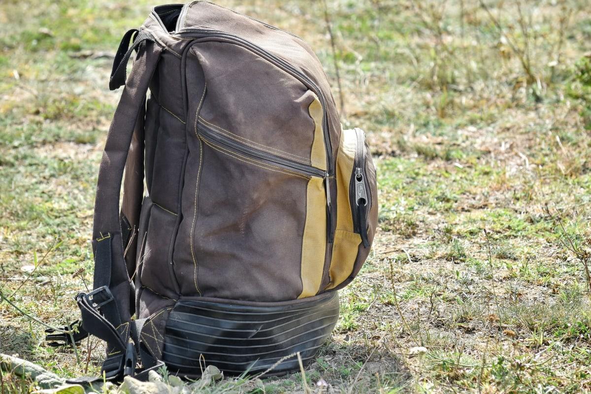 багажу, камера, матеріал, рюкзак, контейнер, літо, трава, пригоди, Піші прогулянки, на відкритому повітрі