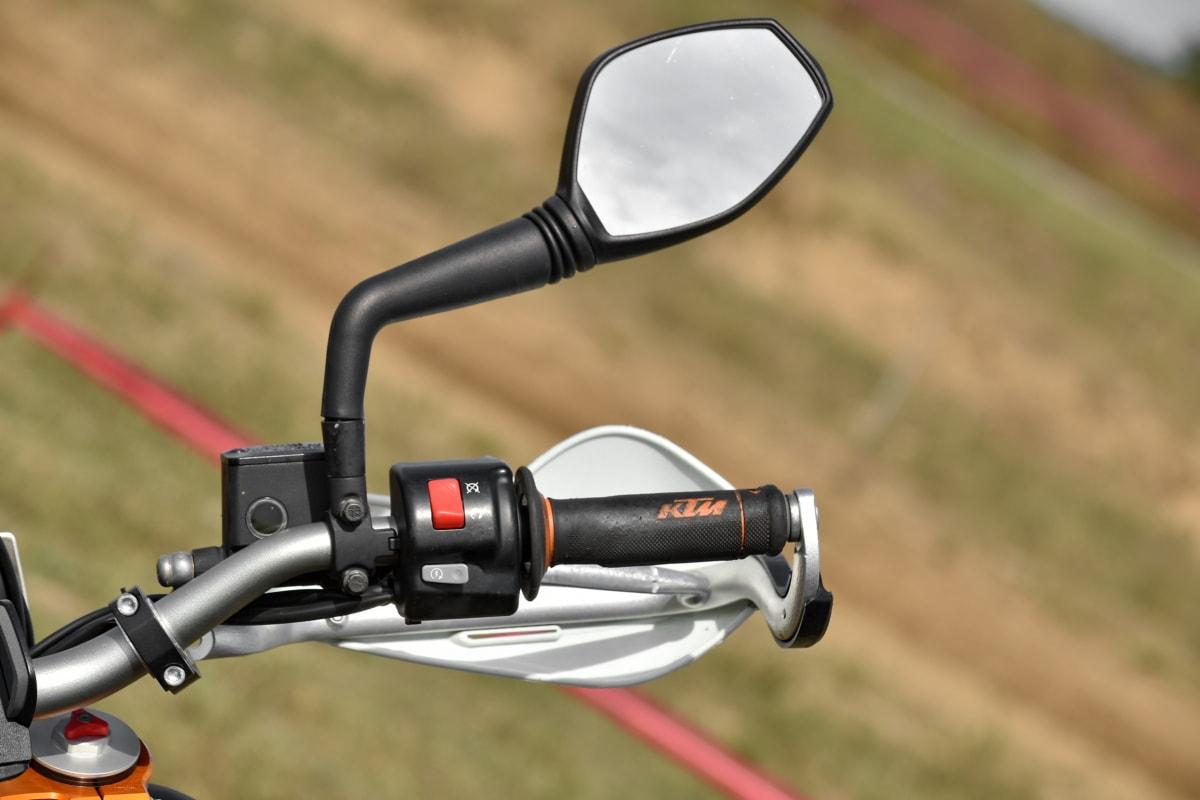 tlačítka, řadicí páky, zrcadlo, motorka, kormidelní kolo, mechanismus, zařízení, venku, zařízení, kolečko