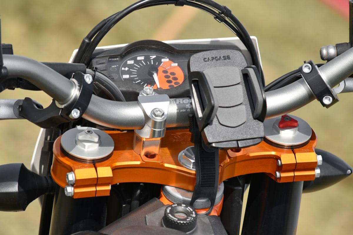 krásné, mobilní telefon, řídicí panel, Držitel, motocyklu, Rychloměr, kormidelní kolo, ovládací prvek, mechanismus, vozidlo