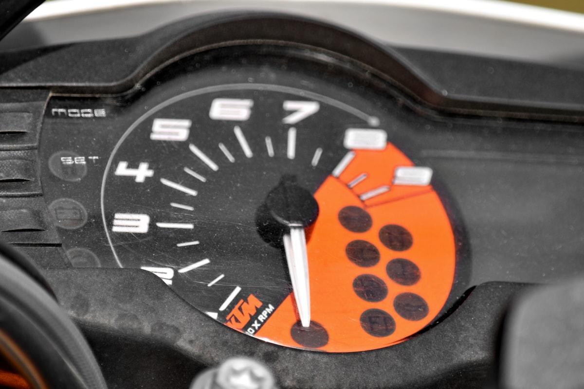 nært hold, Dashboard, detaljer, rask, Sporvidde, motorsykkel, nummer, fartsgrense, speedometer, enheten