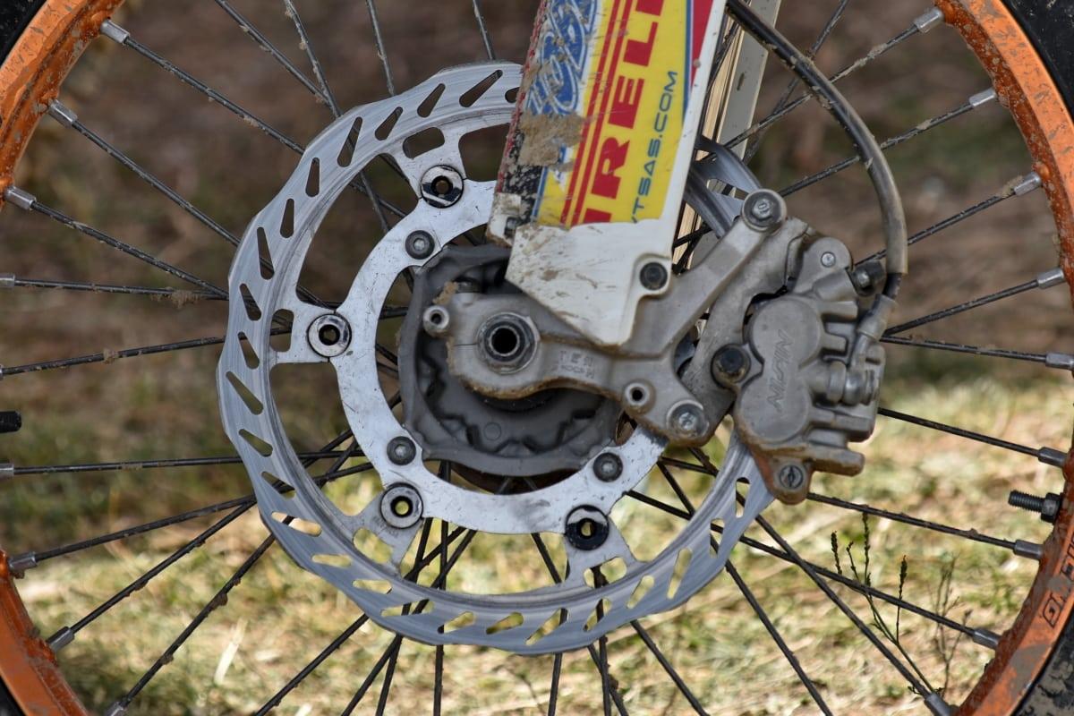 rem, modern, Sepeda Motor, Bagian, teknologi, Ban, roda, logam, gigi, baja