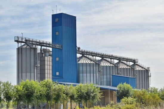 industry, silo, workplace, architecture, structure, steel, outdoors, business, technology, environment