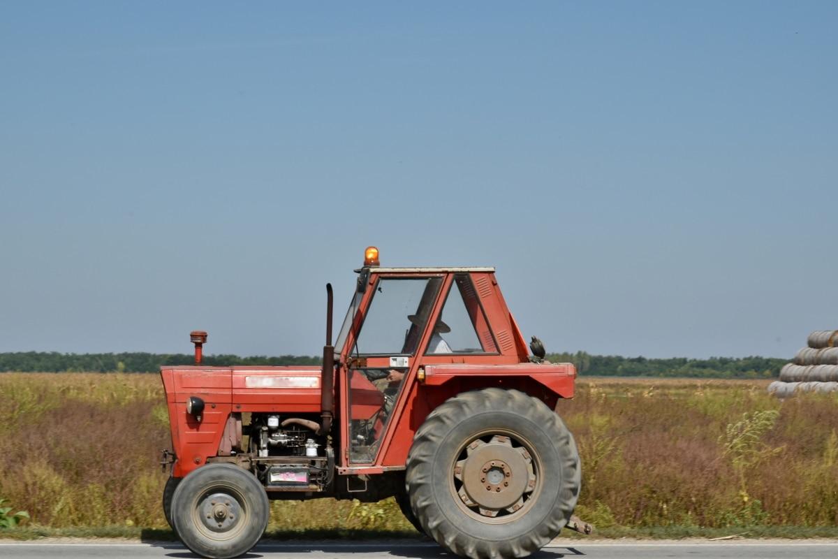 Ackerland, Bewegung, Straße, Darm-Trakt, Fahrzeug, Maschinen, Traktor, LKW, Maschine, Ausrüstung