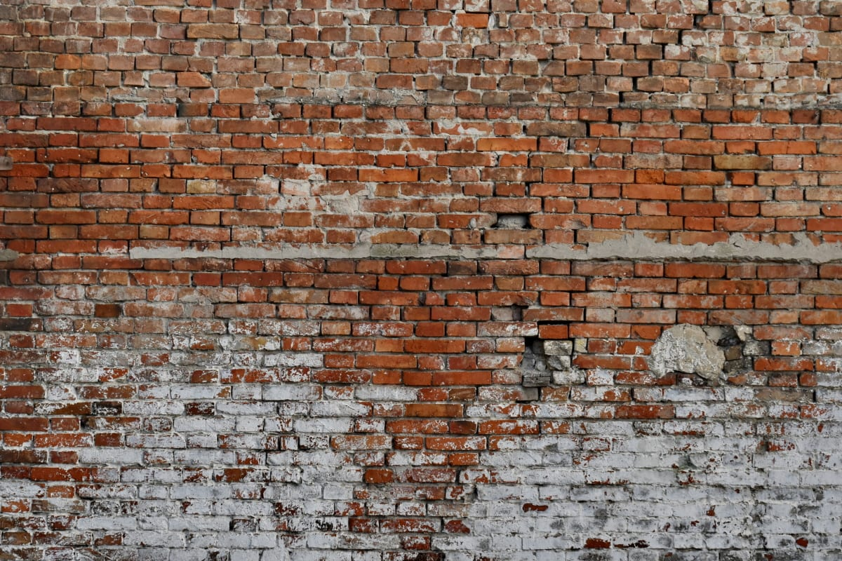 abandonné, briques, carie, décomposition, mur, Rough, surface, béton, Pierre, vieux
