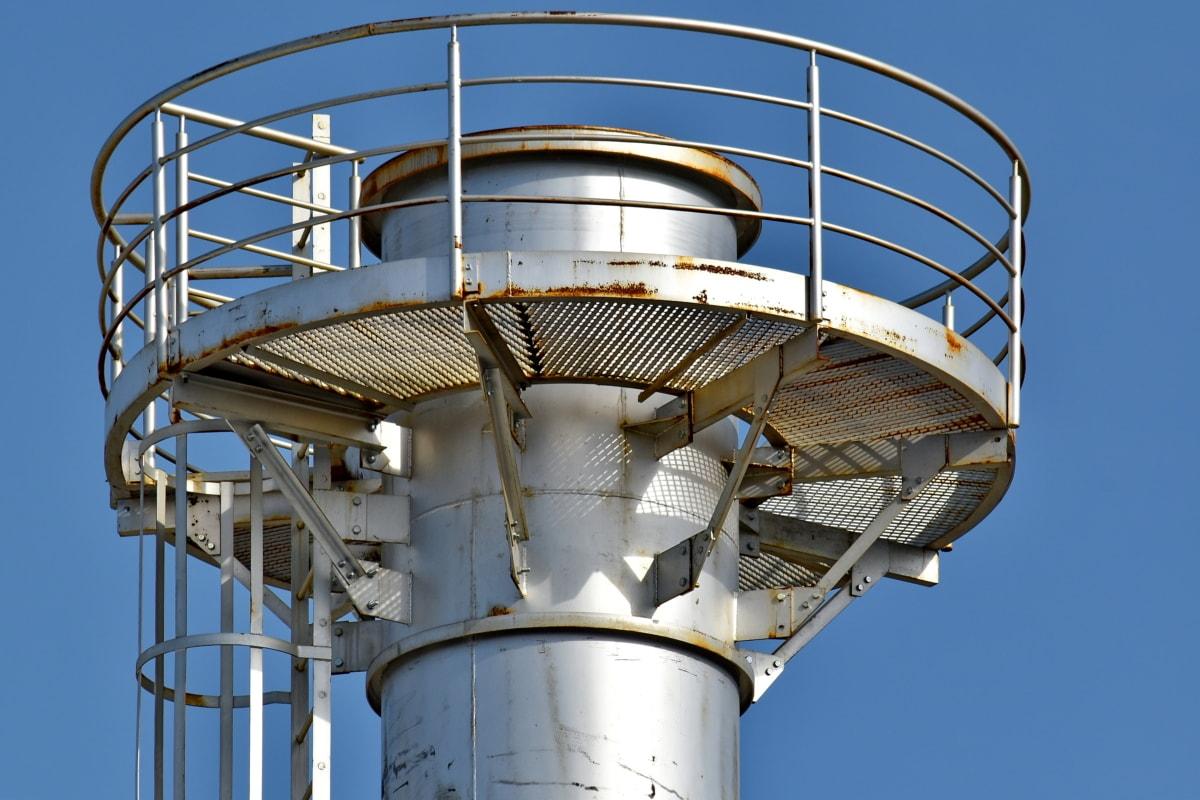 hierro fundido, cerca de, industrial, moho, parte superior, Torre, estructura, acero, tecnología, hierro