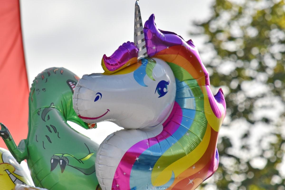 balloon, birthday, celebration, colorful, colors, horse, toys, fun, toy, art