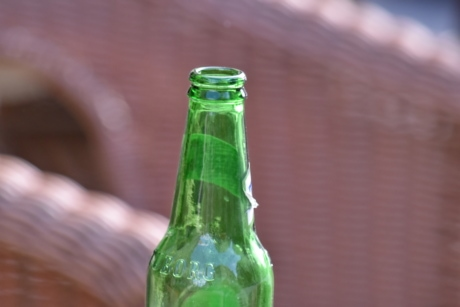 beer, bottle, green, stock, transparent, container, cold, glass, recycling, outdoors