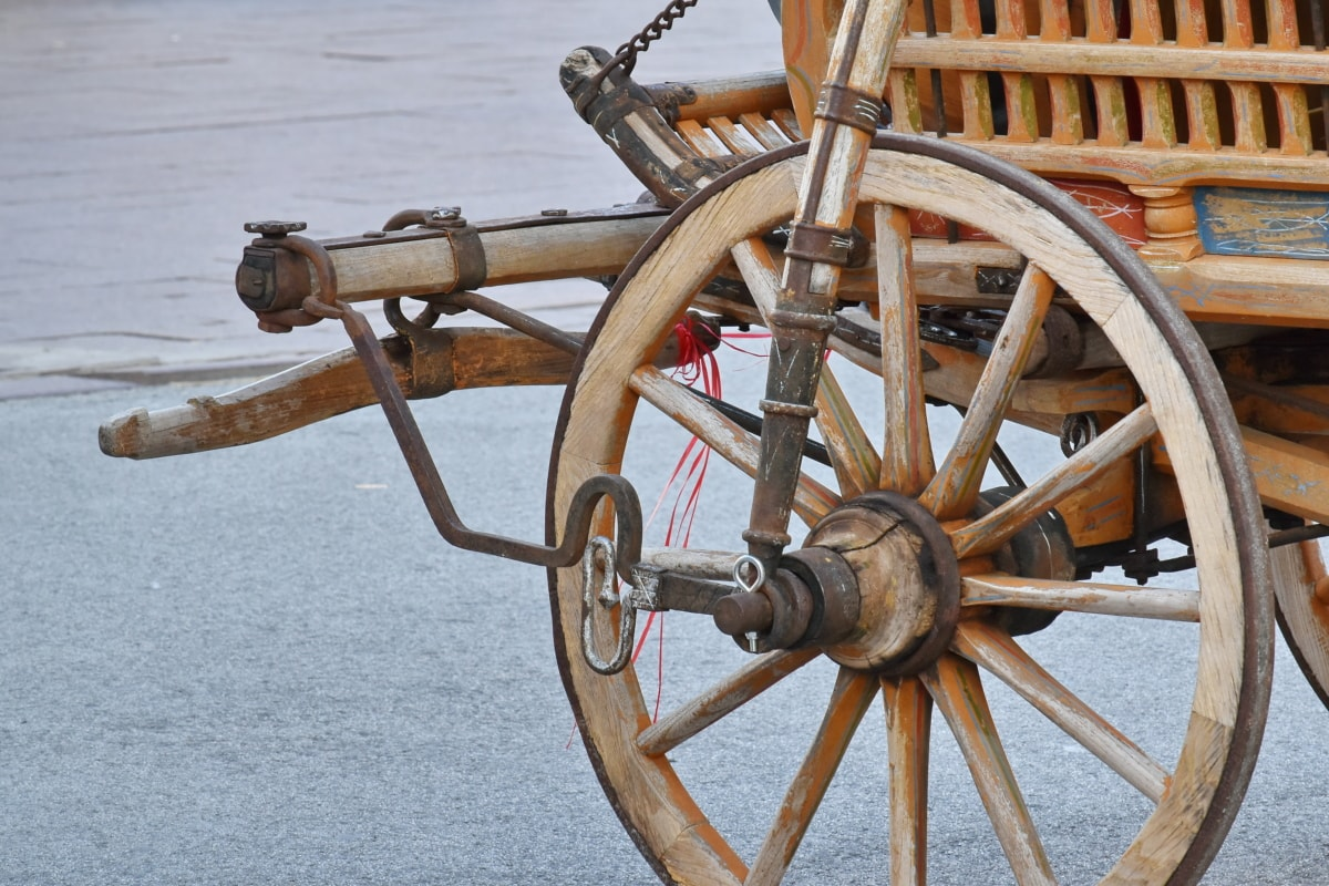 carriage, cart, handmade, old, traditional, wood, mechanism, wheel, device, antique