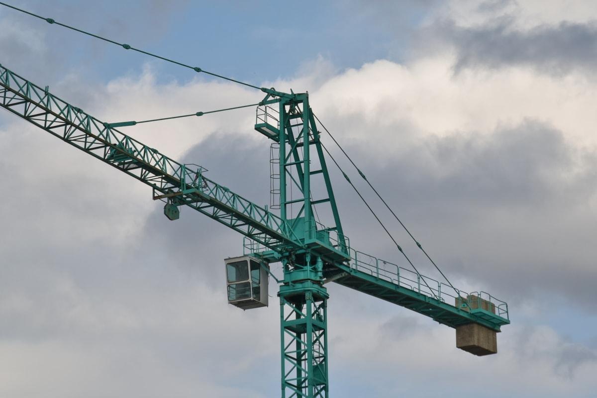 크레인, 개발, 엘리베이터, 산업, 프로젝트, 산업, 스틸, 건설, 타워, 장치