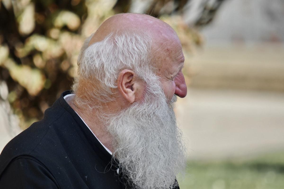 barba, om, portret, preot, pensionare, vedere laterala, bunicul, persoanele în vârstă, Senior, vechi