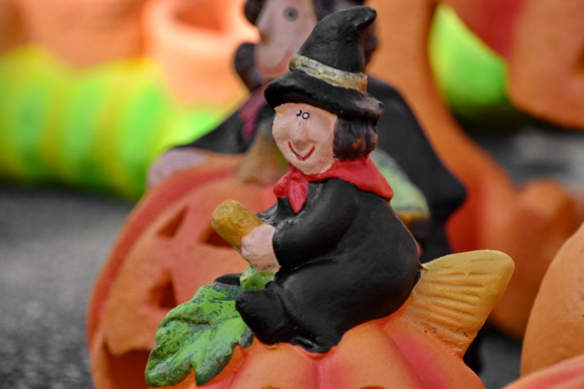 ceramiche, colorato, decorazione, divertente, Halloween, fatto a mano, tempo libero, Festival, zucca, luce del giorno