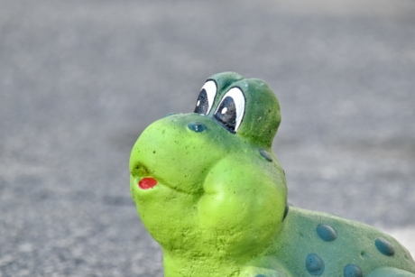 ceramic, decoration, eyes, frog, funny, green frog, greenish yellow, handmade, outdoors, eye