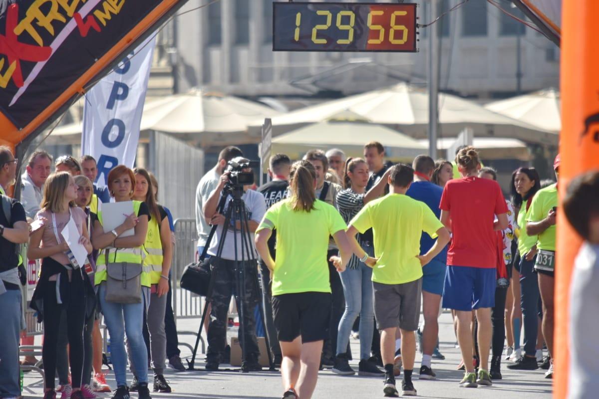 закінчити, пішохідна гонка, бігун, час, Спорт, марафон, Вулиця, конкурс, люди, місто