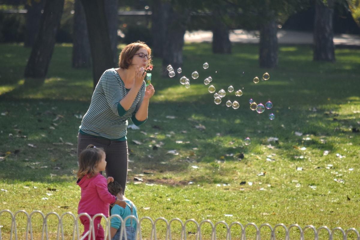 деца, наслада, семейство, майка, игриво, Детска площадка, Съншайн, заедност, парк, свободно време